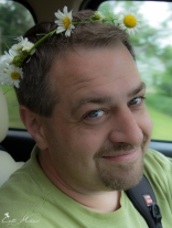 Dan and his daisy crown made by yours truly