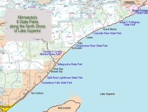 MN State Parks north of the Two Harbors