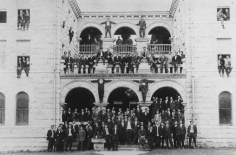 men_of_mood_ Bridwell Hall 1910